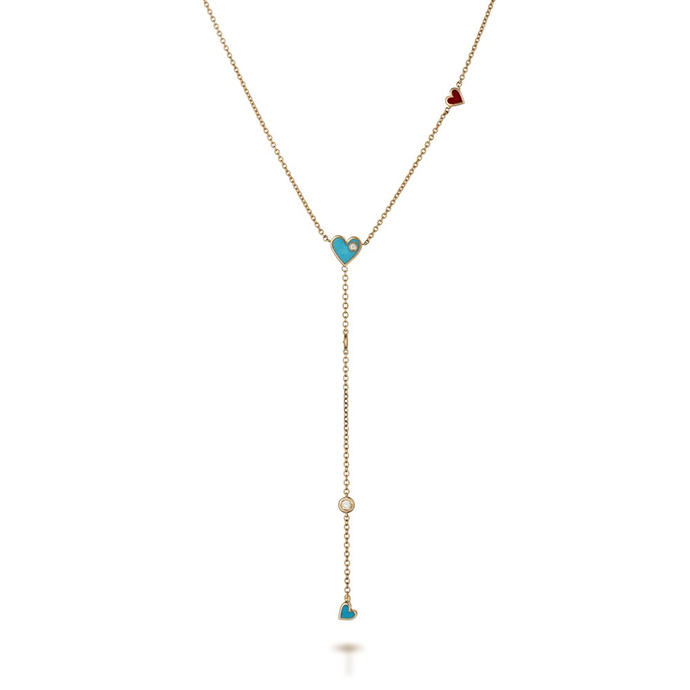 Light blue Y necklace