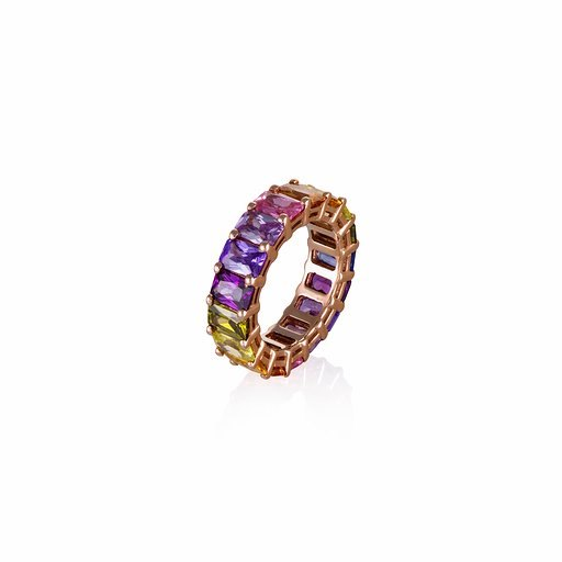Rainbow ring / colors jems