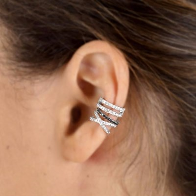 X diamonds helix ear cuff