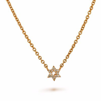 Diamonds Star of David  necklace