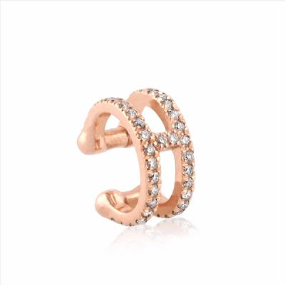 H diamonds helix ear cuff